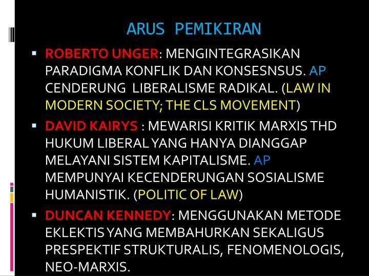 ARUS PEMIKIRAN