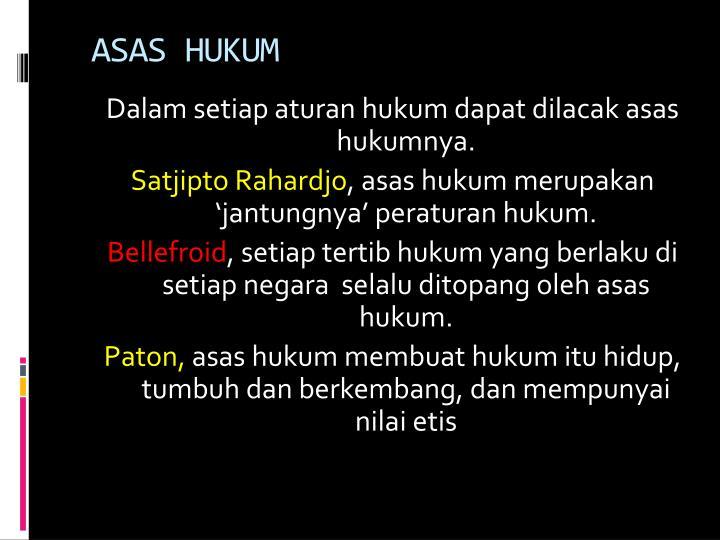 ASAS HUKUM