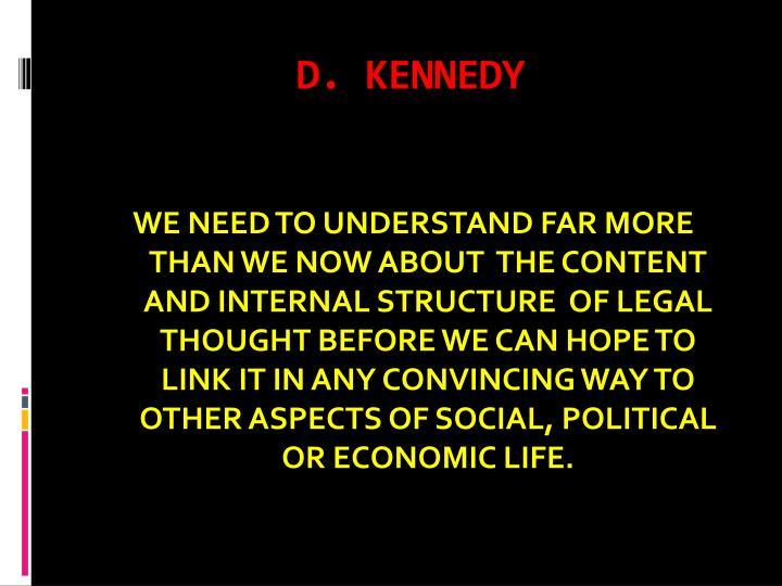 D. KENNEDY