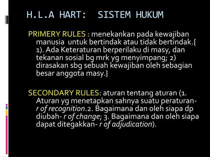 H.L.A HART: