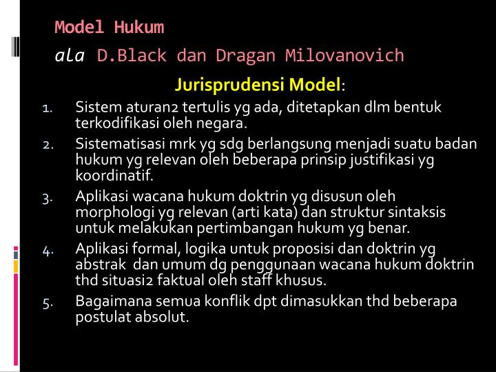 Model Hukum