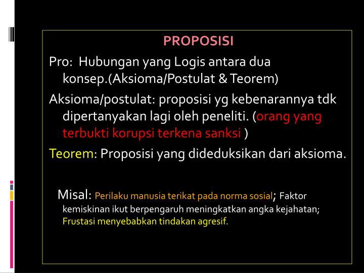 PROPOSISI