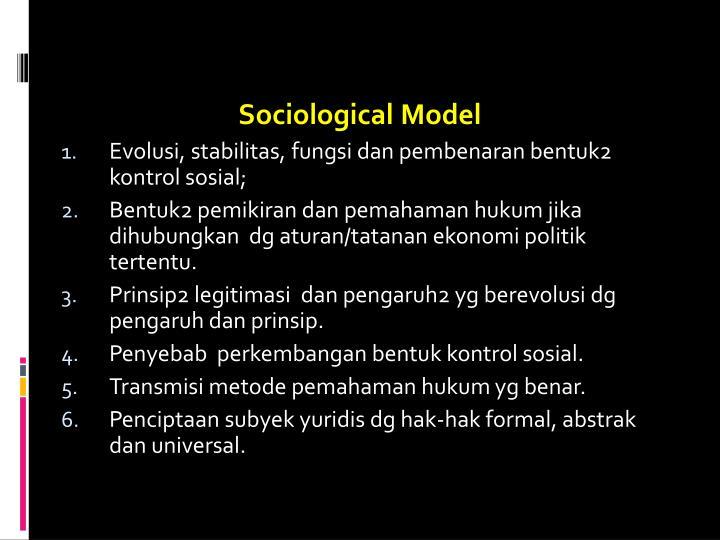 Sociological Model