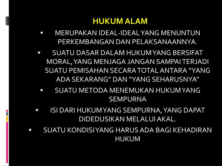 HUKUM ALAM