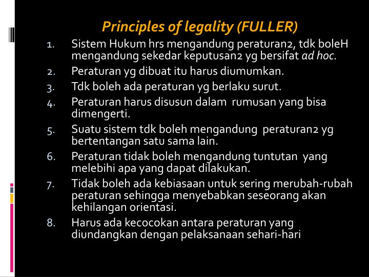 Principles of legality (FULLER)