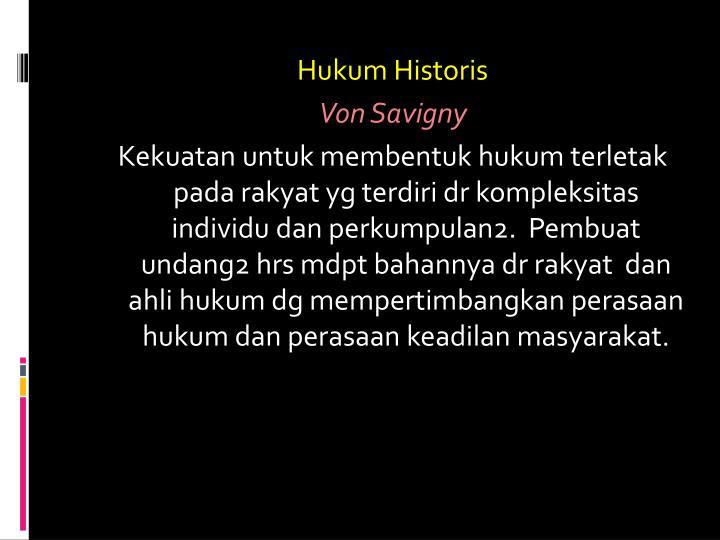 Hukum Historis