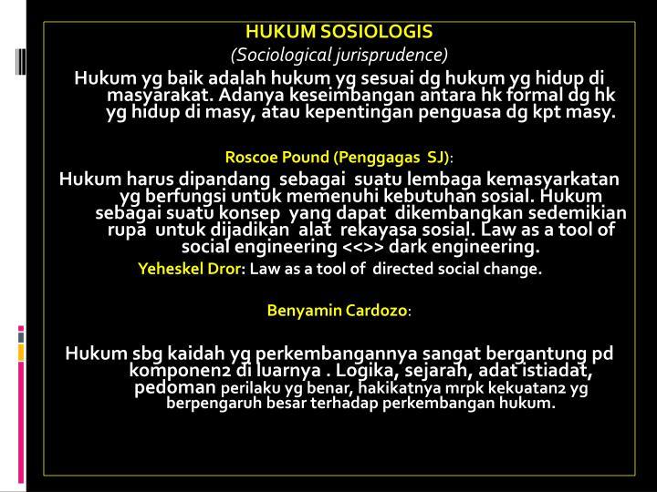 HUKUM SOSIOLOGIS