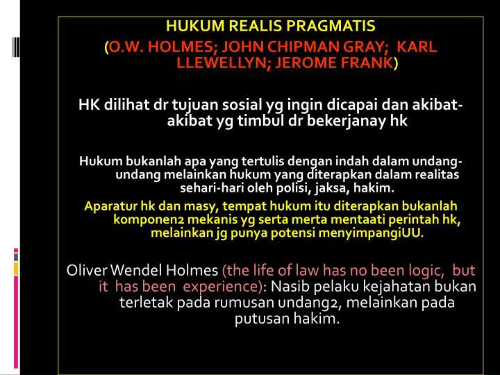 HUKUM REALIS PRAGMATIS