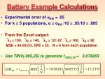 battery example calculations
