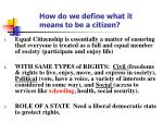 how do we define what it means to be a citizen
