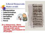 liberal democratic states avoid