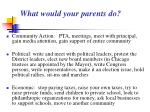 what would your parents do