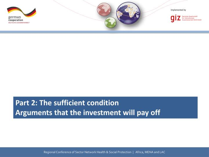 Part 2: The sufficient condition