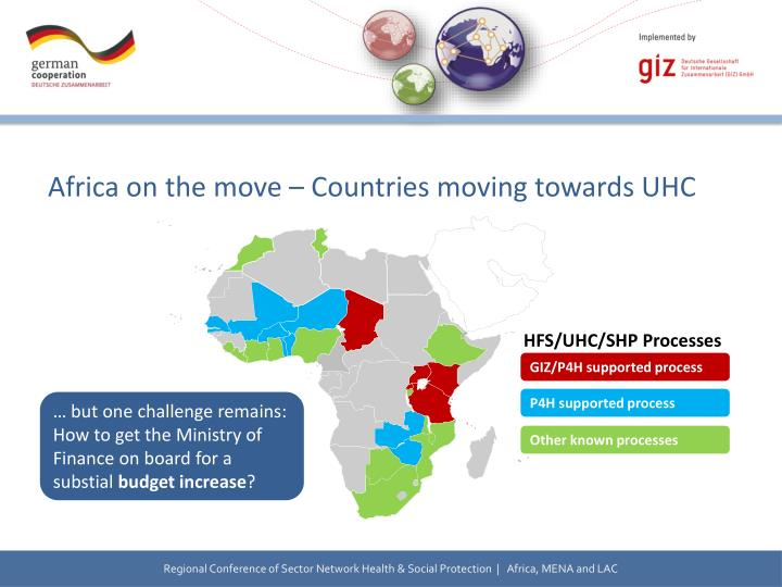 Africa on the move – Countries moving towards UHC