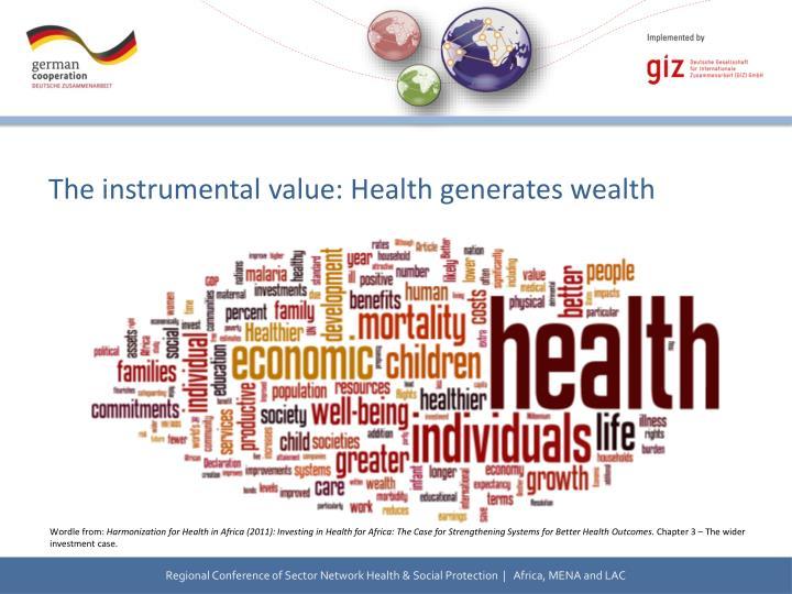 The instrumental value: Health generates wealth