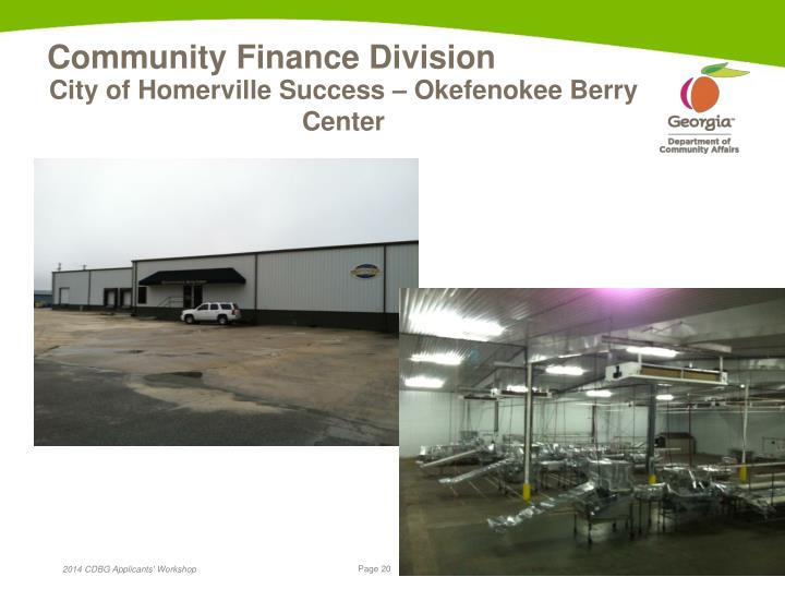 City of Homerville Success – Okefenokee Berry Center