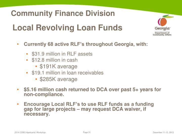 Local Revolving Loan Funds