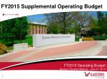 fy2015 supplemental operating budget