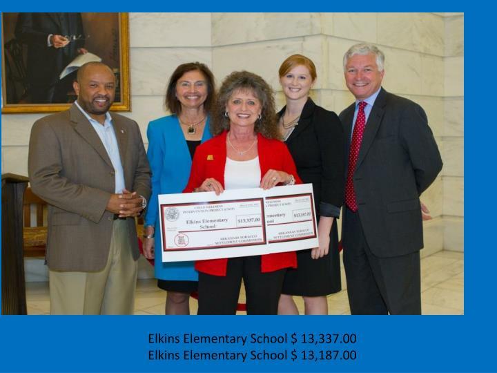 Elkins Elementary School $ 13,337.00