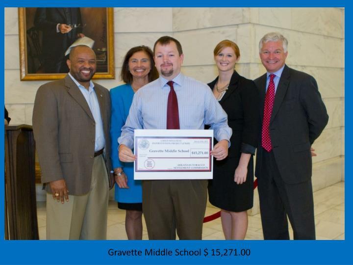 Gravette Middle School $ 15,271.00