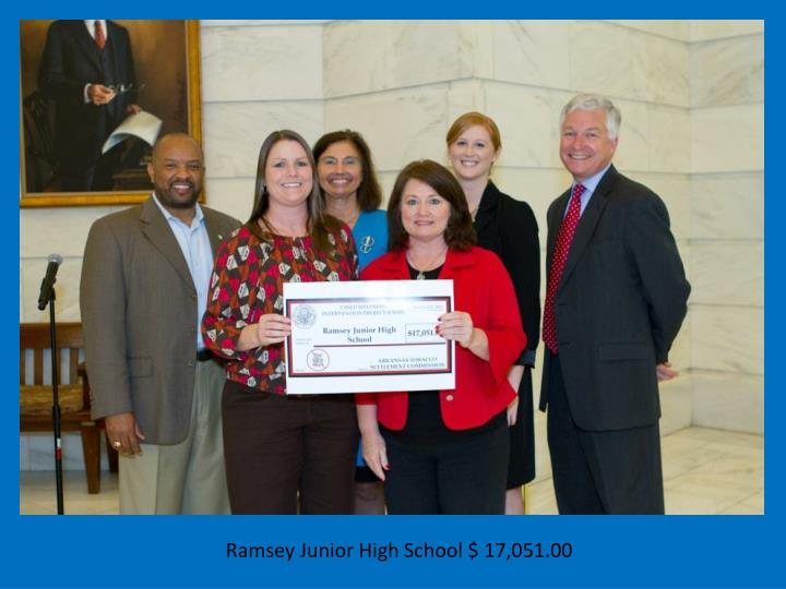 Ramsey Junior High School $ 17,051.00