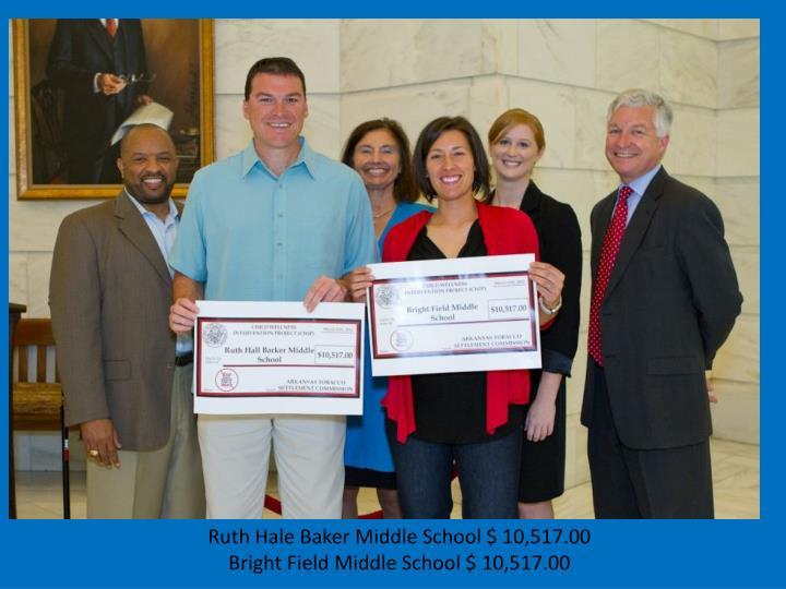 Ruth Hale Baker Middle School $ 10,517.00
