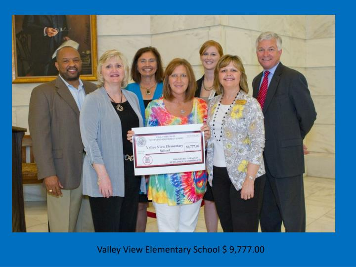 Valley View Elementary School $ 9,777.00