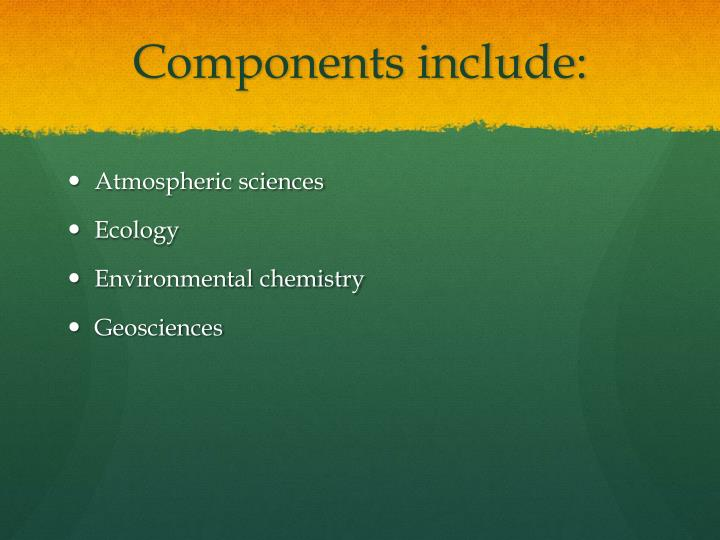 Components include: