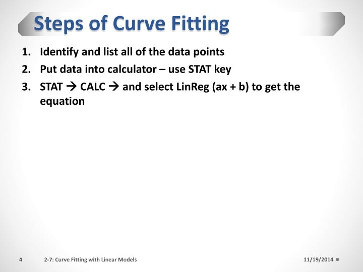 Steps of Curve Fitting