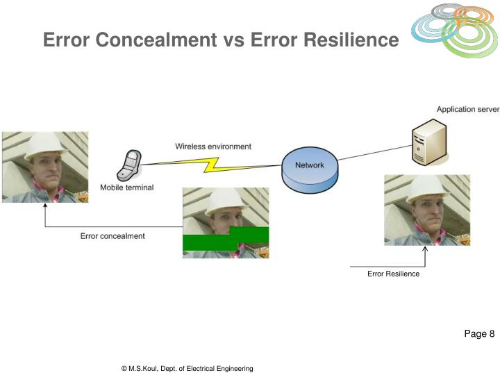 Error Concealment vs Error Resilience