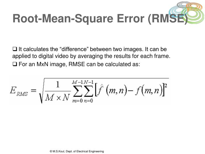 Root-Mean-Square Error (RMSE)