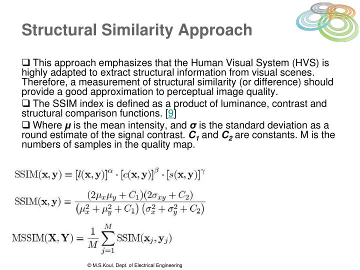 Structural Similarity Approach