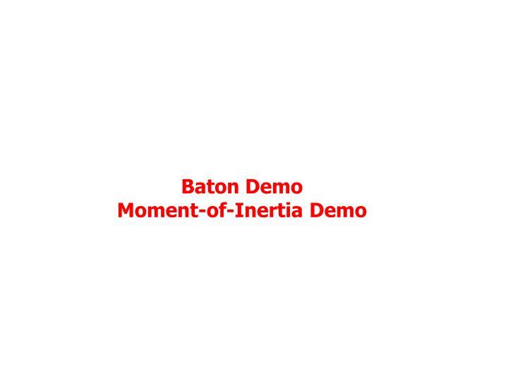 Baton Demo