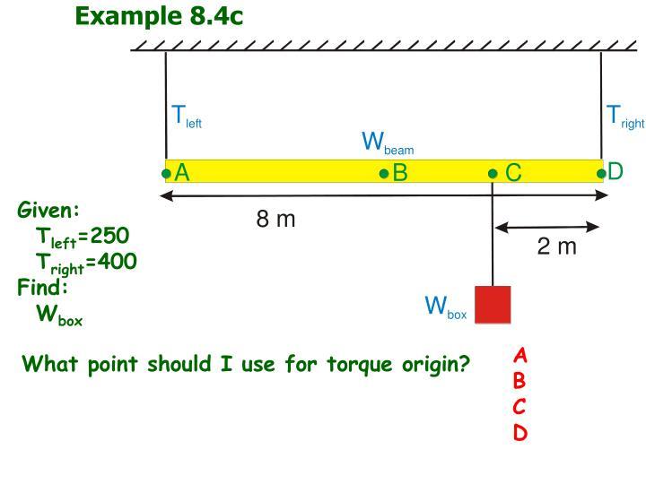 Example 8.4c