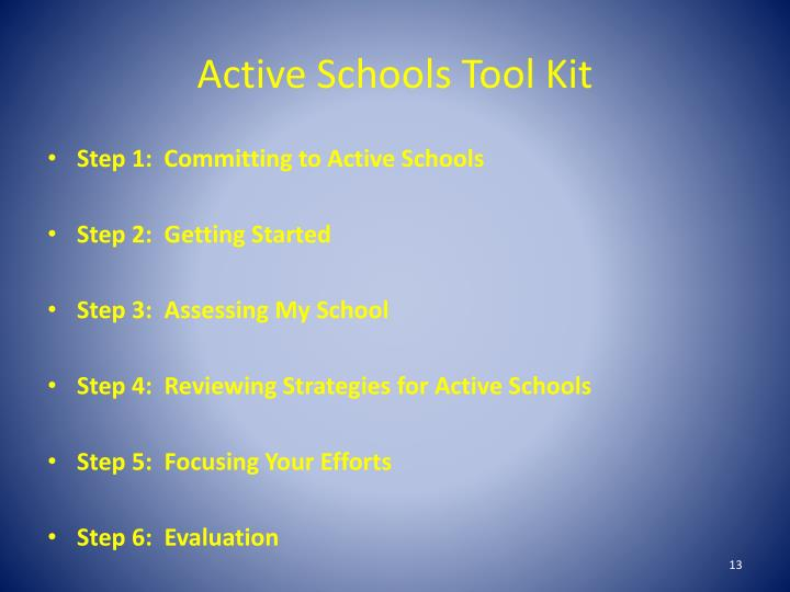 Active Schools Tool Kit