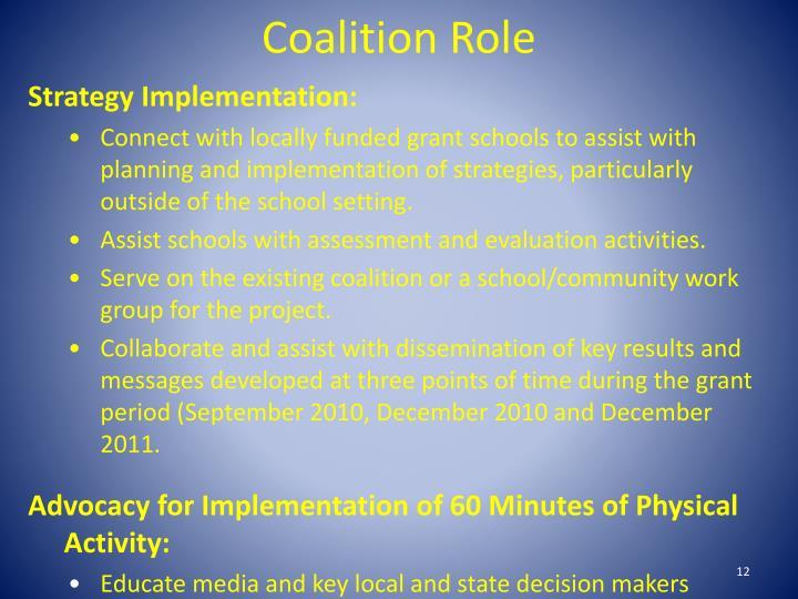 Coalition Role