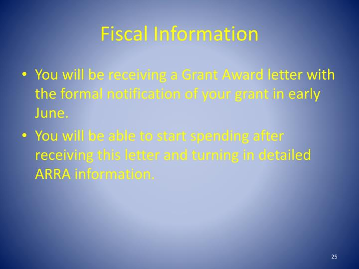 Fiscal Information