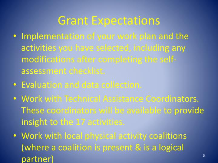 Grant Expectations