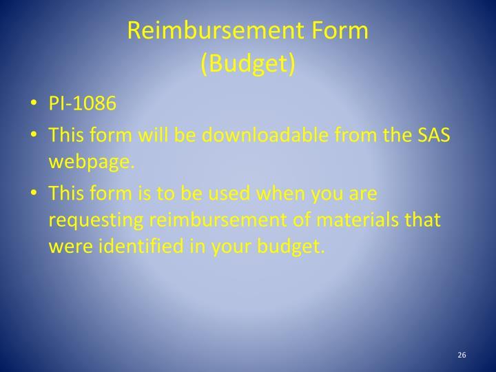 Reimbursement Form