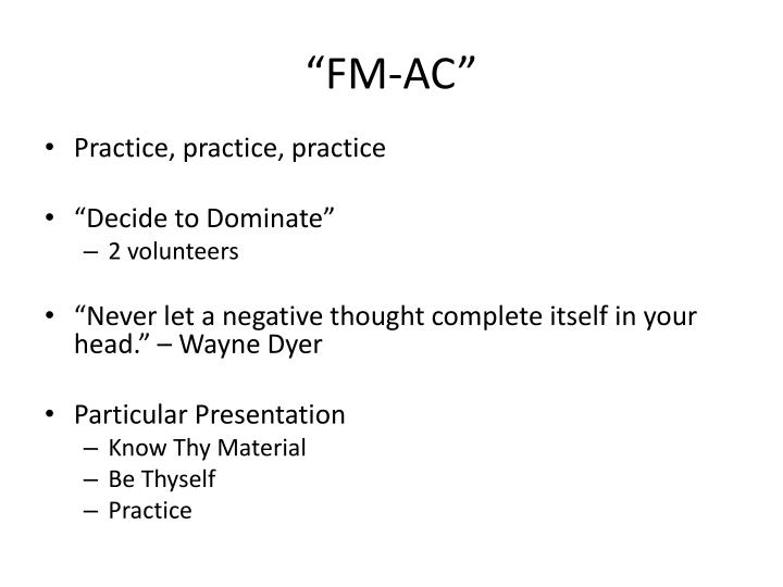 """FM-AC"""