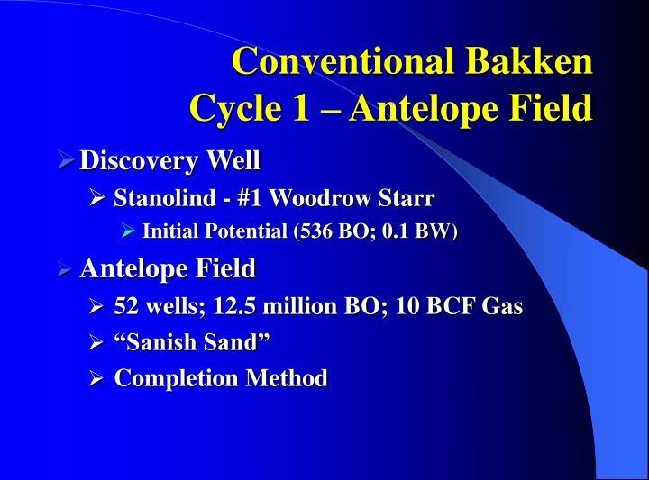 Conventional Bakken