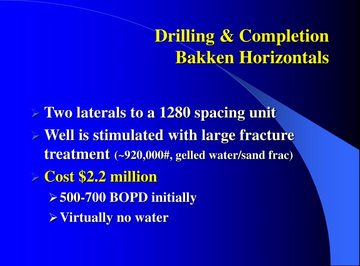 Drilling & Completion