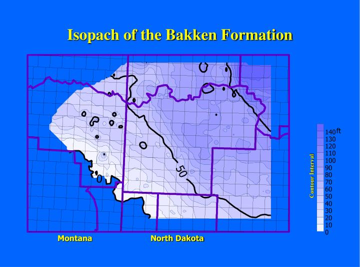 Isopach of the Bakken Formation