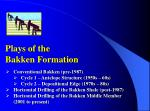 plays of the bakken formation