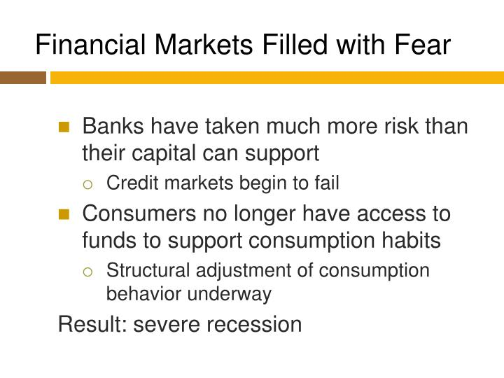 Financial Markets Filled with Fear