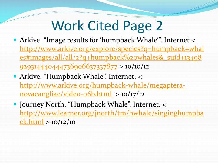 Work Cited Page 2