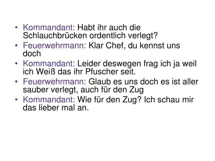 Kommandant: