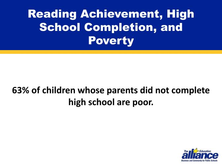 Reading Achievement, High School Completion, and Poverty