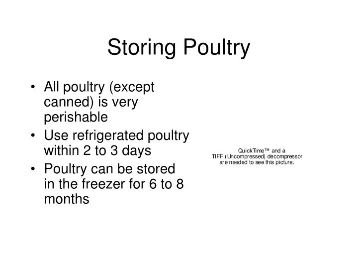 Storing Poultry