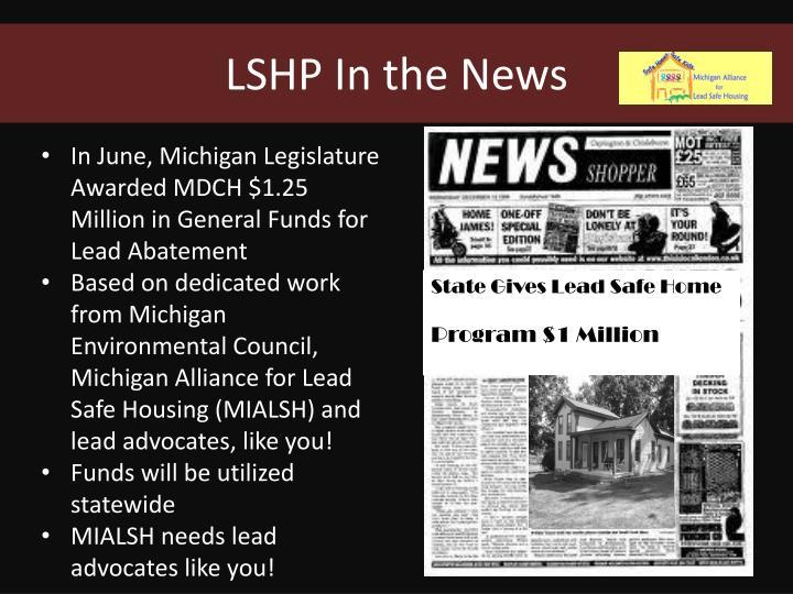 LSHP In the News